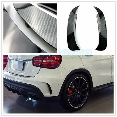 Carbon Look Schwarz Heck Flaps Spoiler Fins Lippe Canard Benz X156 GLA45 AMG S