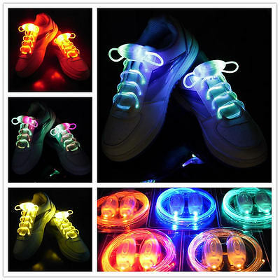 Led Light Shoelaces (Light-Up LED Waterproof Shoelaces - 3 Modes (On, Strobe &)