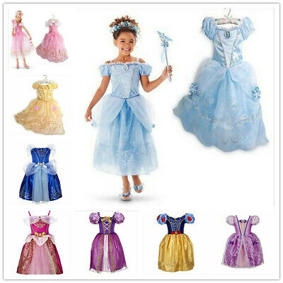 Cinderella Child Costume (Kids Girls Rapunzel Cinderella Cosplay Costume Princess Fairytale Party Dress)