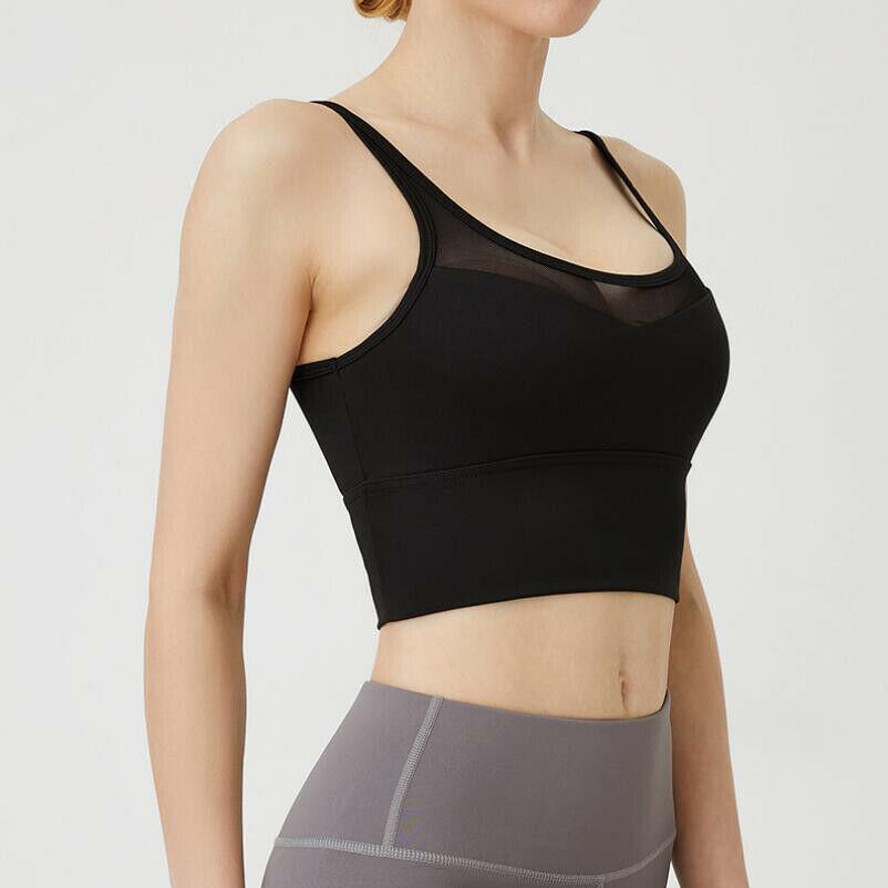 Damen Push Up Sport BH Bügellos Bra Fitness Yoga Training Bustier Soft-BH