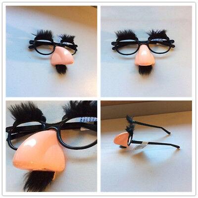 Gefälschte große Nase Augenbrauen Schnurrbart Prop lustige Make-up Halloween - Halloween Gross Makeup