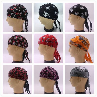 Bandana Plates (Diamond Plate Cotton Skull Caps Men Women Hat Doo Rag Biker Bandana Head)