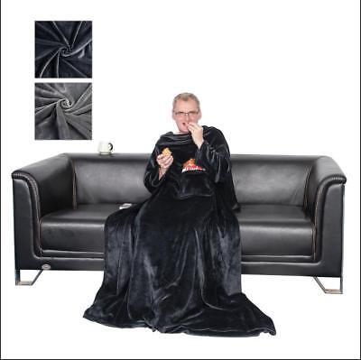 Kuscheldecke mit Ärmeln Wohndecke Fuß- und Handytasche TV-Decke Ärmeldecke #1199 ()