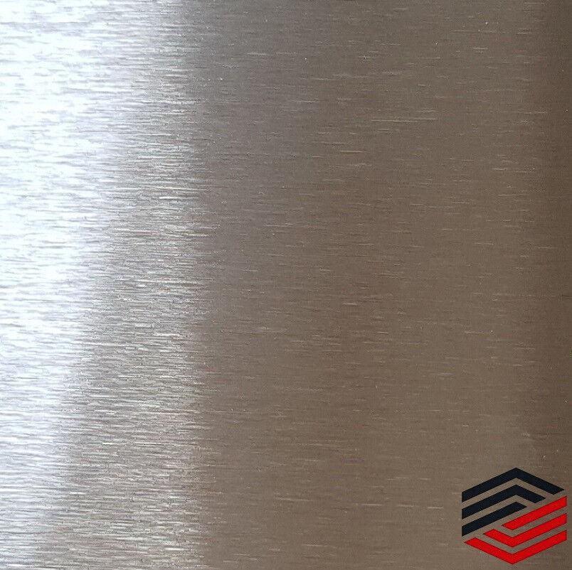 Edelstahl Platte Metall Blech Streifen  ferromagnetisch 0,8mm K240 geschliffen
