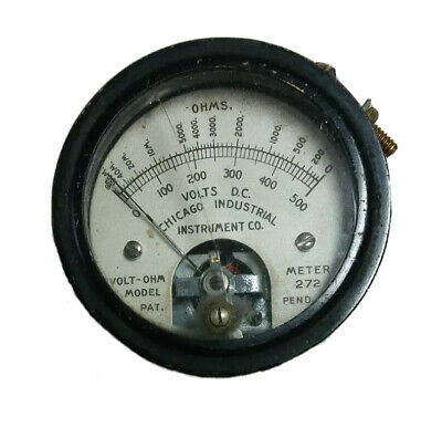 Vintage Chicago Industrial Instrument Co.- D.c. Volt Ohm Meter Gauge - Model 272