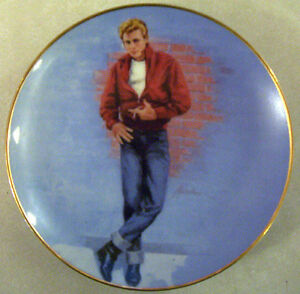 JAMES-DEAN-Rebel-Without-A-Cause-1985-Collector-Plate-NEW-IN-BOX-Very-Rare