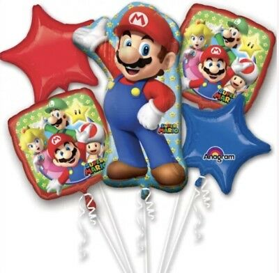 Super Mario Luigi Balloon Bouquet Birthday party supply Favors Prizes Decoration - Mario Birthday Party