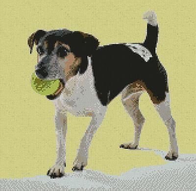 "Jack Russell Terrier Dog Counted Cross Stitch Kit 12"" x 12"" (31 x 30cm) Puppy segunda mano  Embacar hacia Spain"
