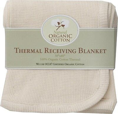 Organic Cotton Thermal Swaddle Infant Baby Blanket by American Baby Company Cotton Thermal Receiving Blanket