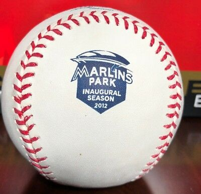 OFFICIAL RAWLINGS 2012 MIAMI MARLINS PARK INAUGURAL SEASON BASEBALL