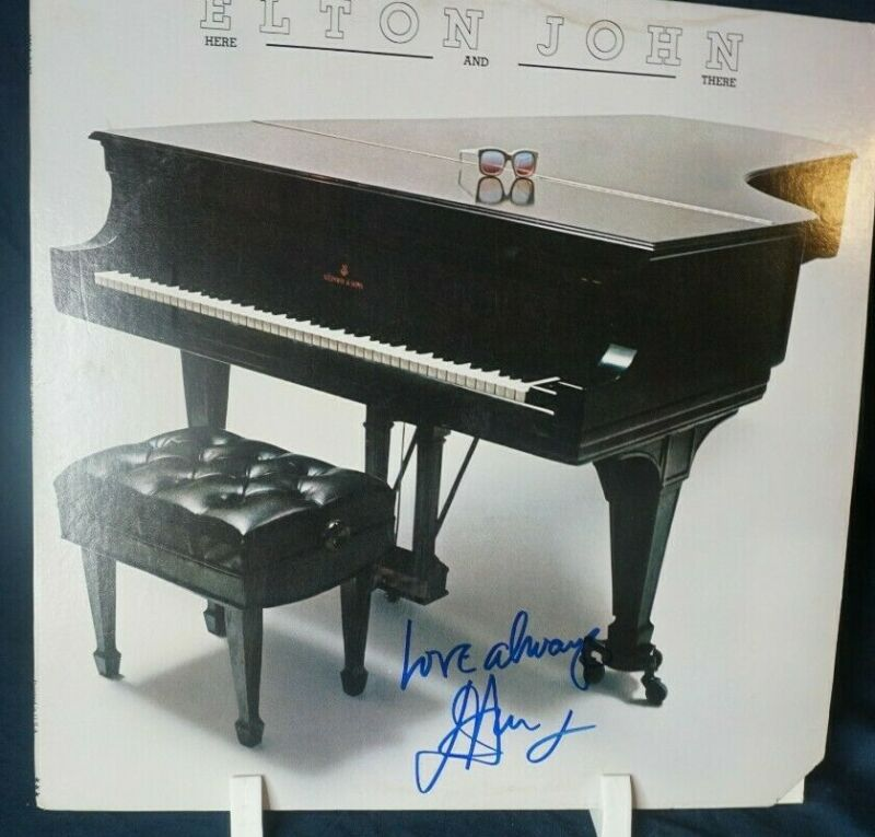 Elton John - Here and There Autograph Signed LP Record Album