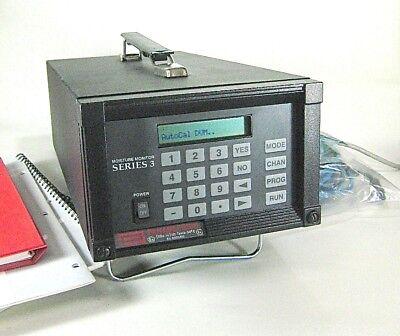 Ge Panametrics Moisture Monitor Series 3 Model Mms3-221-40-0400 2 Channel 120v