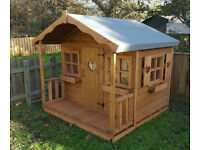 6X6 WOODEN CHILDRENS PLAYHOUSE/WENDY HOUSE TOP QUALITY HEAVY DUTY INC WINDOWBOX