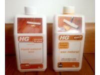 2 x HG Liquid Natural Wood/Parquet floor wax