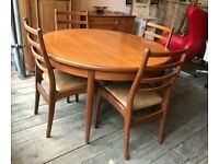 G-Plan Extending Dining Table With Four Chairs