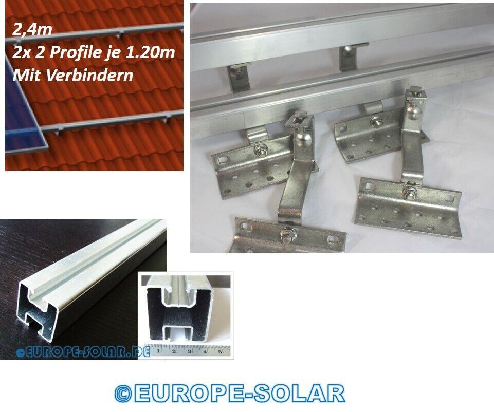 Befestigungsset für 2 Solarmodule Ziegeldach