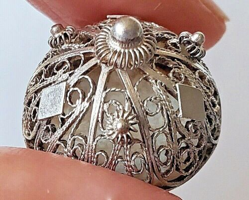 Antique Vintage Button…Silver Wire Filagree Peasant Button…Dupes Available