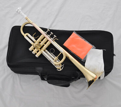 Top Gold C Trumpet Rose brass leadpipe horn cupronickel tuningpipe +case 124mm for sale  Shipping to Canada