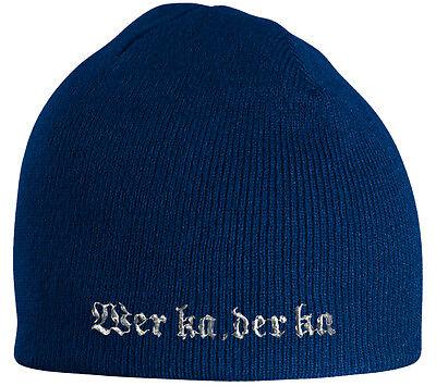 Beanie Hip Hop Muetze Strickmuetze blau koelscher Stick Wer ka der ka 55632 blau (Blaue Hip-hop-mütze)