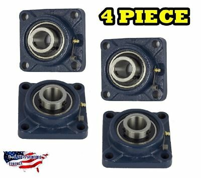 Ucf205-16 Pillow Block Flange Bearing 1 Bore 4 Bolt Solid Base 4pcs