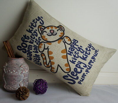 Cotton Linen Cushion Cover Pillow Case Soft Kitty The Big Bang Theory (Soft Kitty Pillow)