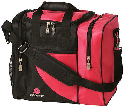 Ebonite Impact Pink/Black Single 1 Ball Bowling Bag