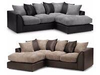 brand new fabric jumbo cord corner sofas