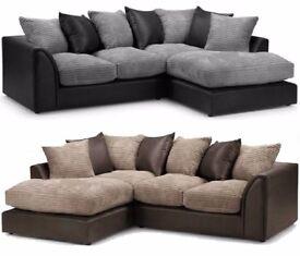 ❤70% Off❤ Italian Byron Left / Right Hand Corner Or 3+2 Sofa In Brown Cream Black &Grey Fabric Sofa