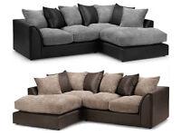 Byron corner sofas / 3+2 seater set or corner sofa /grey/black or beige/brown