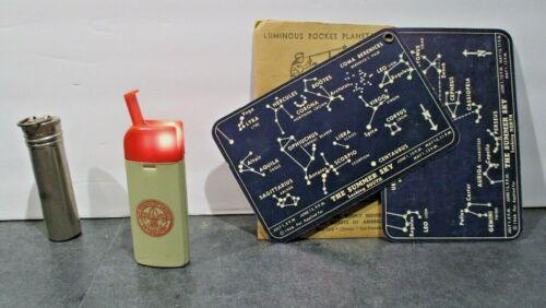 LOT  Boy Scouts Metal Match Keeper_ Pocket Planetarium_Bantam Lite-Pocket Light