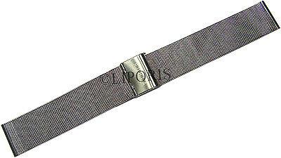 RUHLA Edelstahl Uhrenarmband Milanaise mit Klappschließe unisex Bandanstoß 20mm