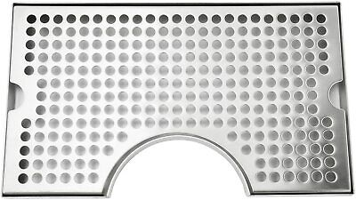 U Style Beer Drip Tray For Mount 3 Column Beer Tower Cut-out No Drain 12x7 Inch