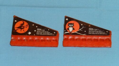 vintage Halloween WOWEE CHEWING GUM WHISTLE LOT x2 harmonica Glenn Confections