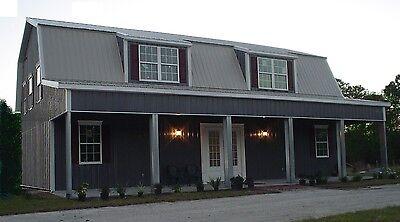Steel Metal Home Gambrel Building Shell Kit, 3500 sq ft