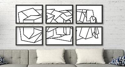 Cuadros abstractos decoracion contemporanea diseño minimalista 1260 x 594 cm