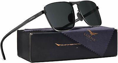 LUENX Aviator Polarized Mens Sunglasses Womens UV 400 Protection with case (Luenx Sunglasses)