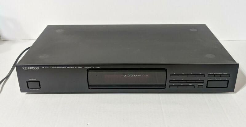 Kenwood KT-591 AM/FM Stereo Tuner Model TESTED Vintage Good condition