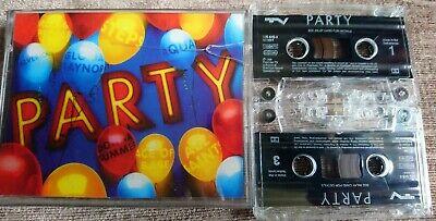 PARTY~RARE 2 CASSETTE TAPE SET~HANSON~AQUA~ACE OF BASE~ABBA~S EXPRESS..ETC~1990S