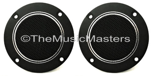"Pair 4"" inch Flush Mount Round Super Horn TWEETER Speakers Car Audio Home Stereo"