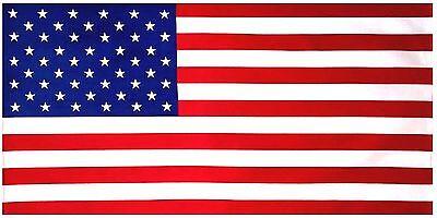 "American Flag Beach Towel 30""x60"" USA Flag 100% Cotton Satisfaction Guaranteed"