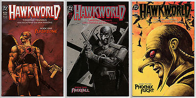 HAWKWORLD LIMITED SERIES #1 #2 #3 - 1989 COVER PRICE - CGC Ready - 9.6 OR BETTER