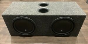"Dual 10"" aero ports subwoofer box BOX ONLY"