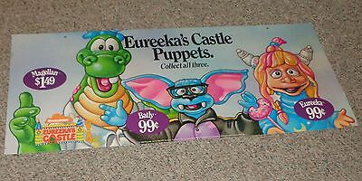 Nickelodeon Eureeka's Castle Hand Puppet Hanging Cardboard Poster Pizza Hut Sign