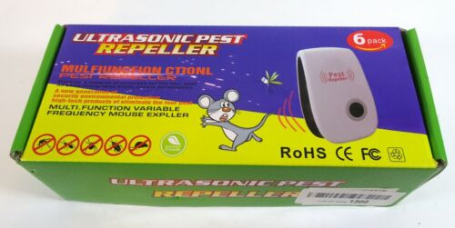 Ultrasonic Pest Repeller 6 Pack,Upgraded Electronic Pest Repellent Plug