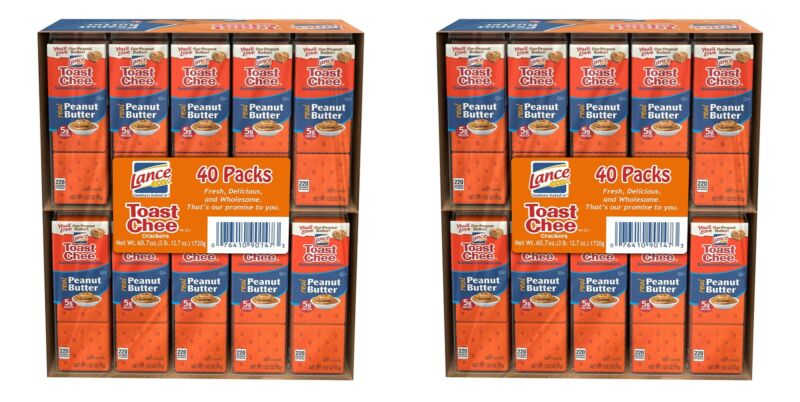 Lance ToastChee Peanut Butter Crackers (1.52 oz., 40 ct.) pack of 2, total 80 ct