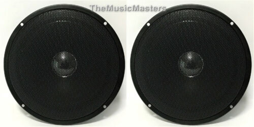 "Pair 6"" Home Speaker Cabinet Enclosure MIDRANGE Replacement Speaker Metal Grill"