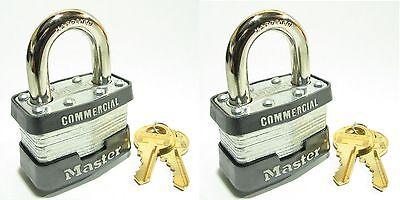 Lock Set By Master 3ka Lot 2 Keyed Alike Commercial Steel Laminated Padlocks