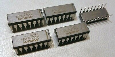 5 Pcs Maxim Max232acpe Rs-232 Transceivers Dip16 Rohs