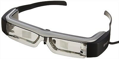 Epson BT-200AV Moverio See-Through Smart Glasses With Adapter Japan Model NEW