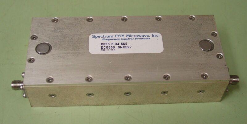 Spectrum FSY Microwave 836.5 MHZ RF Bandpass Filter